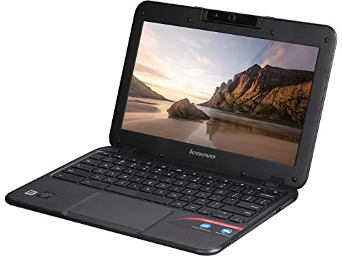 Lenovo 80MG0001US-RB-AMZ2  N21 11.6' HD 16GB SD Chromebook Intel Celeron N2840 4GB Wi-Fi Bluetooth (Renewed), Black