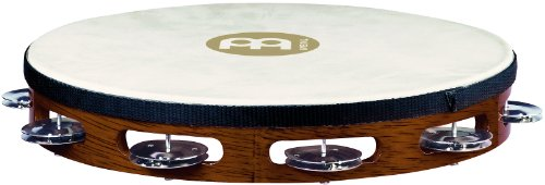 MEINL Percussion マイネル タンバリン Traditional Goat-Skin Wood Tambourine Steel Jingles 1row TAH1AB 【国内正規品】