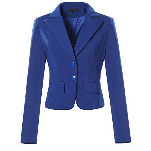Xmiral Parka Strickjacken Damen Mit Kapuze Mäntel Langarm Weinrote Taschen Outwear (XS,Blau)