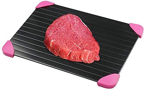 ZCY Auftauplatte Schnelles Auftautablett für Tiefkühlkost/Antihaft-Aluminium für Fleisch und Tiefkühlkost, 100% Spülmaschinen-Safe-M (29,5 * 20,8 cm)