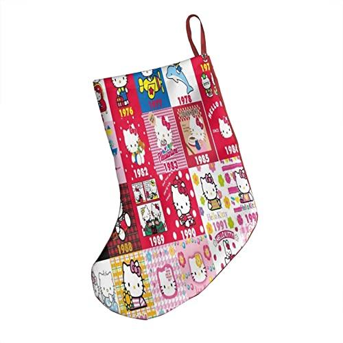 Orecchini in pelle Hello Kitty calze di Natale calze per bambini/adulti