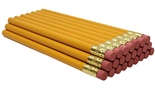 RevMark Jumbo Round Pencil 24-Pack with Black Lead, Made in The USA. Quality Cedar Wood for Carpenters, Construction Workers, Woodworkers, Framers. Me