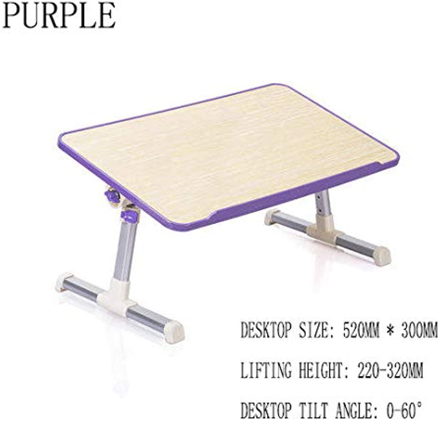 Bed Table Computer Bed with Desk Simple Lazy Table Dormitory Multi-Function Folding Writing Home Eating Mini Multi color,C,M