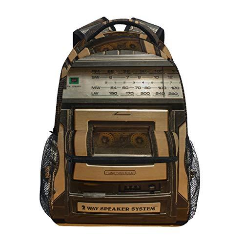 Rucksäcke College Schultasche Vintage Radio Kassette Recorder Büchertaschen für Kinder Teenager Schulter Casual Reisen Daypack