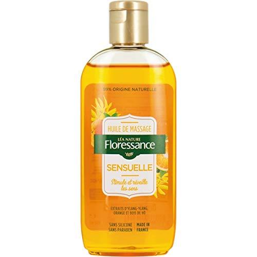 Floressance par Nature Huile de Massage Sensuelle 150 ml - Extraits d'Ylang, Orange et Bois de Hô