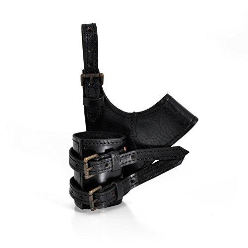 Fourreau ceinture pour épée, vrai cuir, fabriqué à la main, pour jeux de rôle grandeur nature et combat-exhibition - Noir