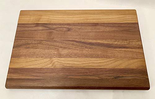 Tagliere grande professionale in legno noce massello artigianale 295x29x455 con incavi laterali