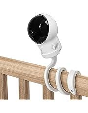UIQELYS Flexibele Camera Houder voor Eufy SpaceView Babyfoon, S/Pro Babyfoon Camera Beugel, Gemakkelijk Insatll Houder Geen Gereedschap Geen Muur Schade