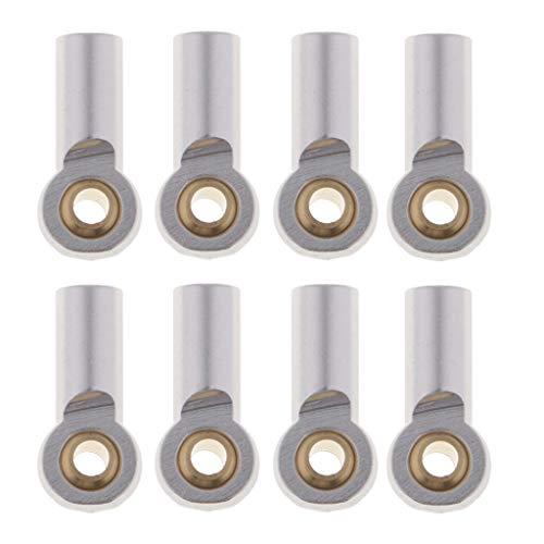 SM SunniMix 8er-Set Aluminium Gelenkkopf Kugelkopf für 1/10 RC Auto Cars - Silber