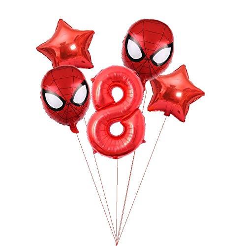 WENYOG Globos 1 Set de Aluminio Foil Balloon Números Rojos Niños y bebés Fiesta de cumpleaños Decoración de la Pared Niño Juguete Globo Globos De CumpleañOs (Color : Agate)