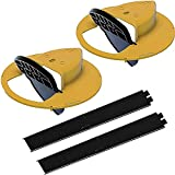 Mouse Trap Bucket - Flip and Slide Bucket Lid Mouse Trap |Humane or Lethal| |Trap Door Style| |Multi Catch |Auto Reset| |Indoor Outdoor| |No See Kill| |5 Gallon Bucket Compatible (2×Yellow)
