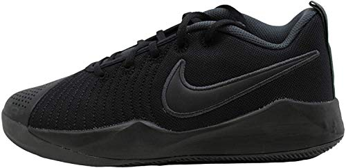 Nike Team Hustle Quick 2 (GS) Basketball Shoe, Black Black Anthracite Volt, 36 EU