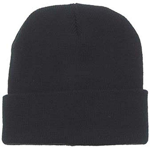 Bonnet de Laine, 100 % laine, très bien brodé - Noir, sans