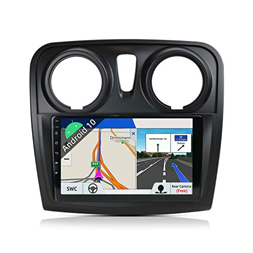 JOYX Android 10 Autoradio para Dacia - Sandero (2014-2017) - [2G+32G] - Gratis Cámara Canbus - 9 Pulgada GPS 2 DIN - IPS 2.5D - Apoyo Dab 4G WLAN Bluetooth Carplay Mandos de Volante Google Mirrorlink