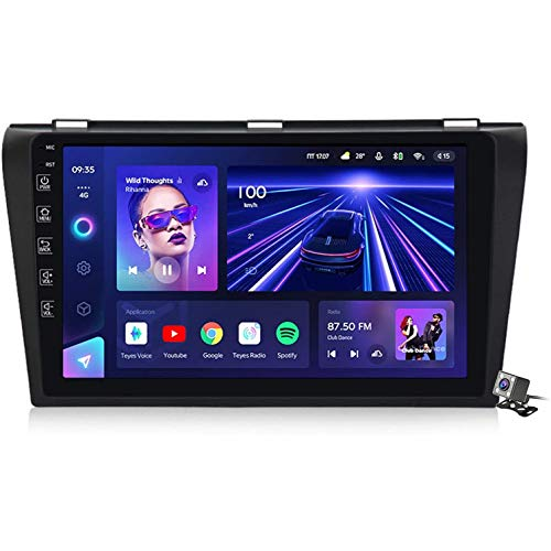 XBRMMM Android 10 Car Radio De Navegación GPS para Mazda 3 2004-2009 con 9 Pulgada Pantalla Táctil Support FM Am RDS DSP/MP5 Player/BT Steering Wheel Control/Carplay