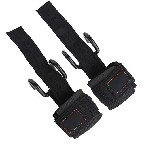 RBSD Gewichtheben Handgelenkschutz, Haken Armband, mit Haken verstellbar rutschfest für das Krafttraining der Arme