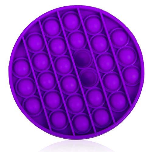 ZoneYan Bubble Sensory Fidget Toy, Squeeze Sensory Toy, Silicone Anti-Stress Jouets, Pousser Pop Bubble, Pop Bubble Fidget Toy, pour Soulager l'Anxiété, pour ADHD Autisme Besoins Spéciaux (Lila/Rund)