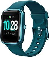 YAMAY Smartwatch Orologio Fitness Donna Uomo Smart Watch Android iOS Contapassi Cardiofrequenzimetro da polso Orologio...