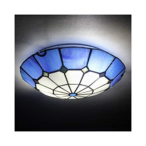 WFBD-CN luci a LED per Esterni Lampada da soffitto in Vetro colorato, Lampada da soffitto in Vetro Stile Popolare da 12 Pollici for la Decorazione Domestica luci LED per Barche