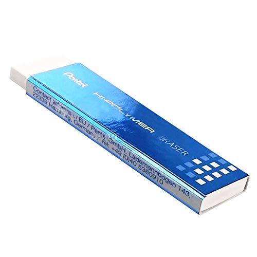Borracha Pentel Hi-Polymer Slim, Pentel, SM/EZEE02E, Branco