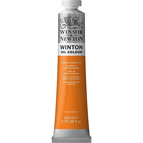 Winsor & Newton Winton Oil Color Paint, 200-ml Tube, Cadmium Orange Hue