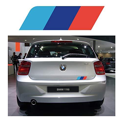 BMW 1er-Serie Heckstreifen – M Farben Auto-Aufkleber Grafik F20 F21 E81 (SS20006)