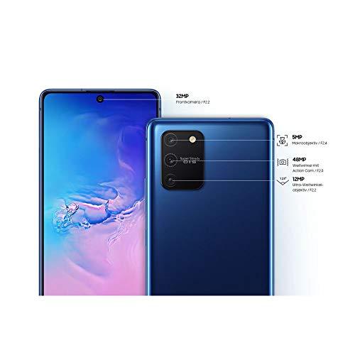 Samsung Galaxy S10 Lite Android Smartphone ohne Vertrag, 4.500 mAh Akku, Schnellldaden, 6,7 Zoll Super AMOLED Display, 128 GB/8 GB RAM, Dual SIM, Handy in blau, deutsche Version