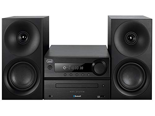 Trevi HCX 1080 BT Sistema Stereo HiFi con CD, Mp3, USB, Line-In, Bluetooth, Radio FM PLL e Presa Cuffie, Nero