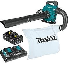 Makita XBU04PTV Lithium-Ion Brushless Cordless 18V X2 (36V) LXT Blower Vacuum Attachment Kit (5.0Ah), Teal