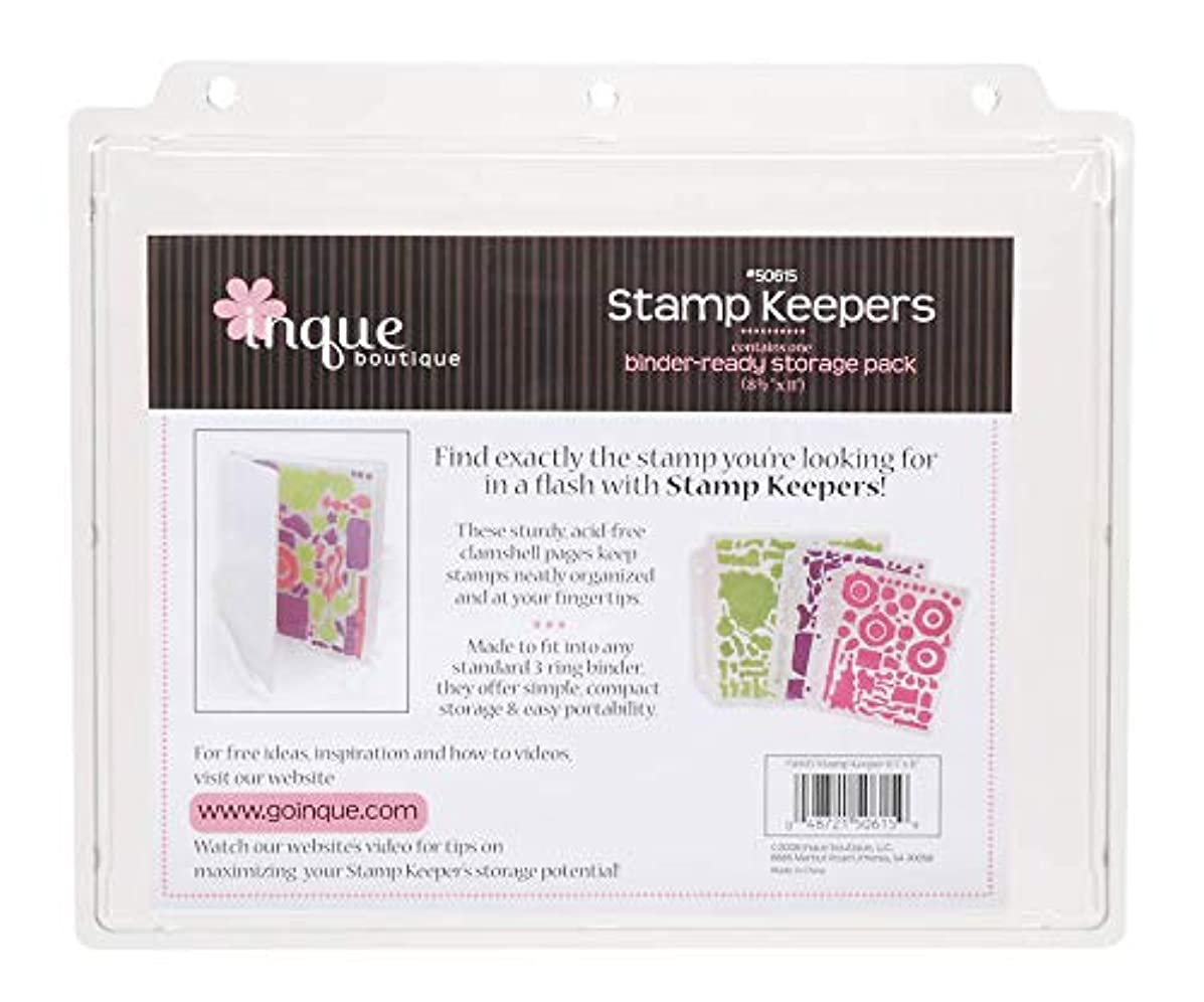 Whispers INQ50615 See DS Clear and Cling Stamp Storage 8.5X11