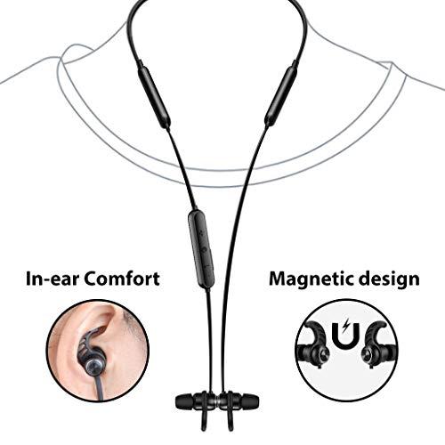 Avantree NB16 Ecouteurs Bluetooth Tour de Cou pour TV PC, 20 Heures, Fast Stream No Delay, Magnetiques sans-Fil avec Micro, Compatible avec iPhone téléphones Musique & Appels, légers & Confortables