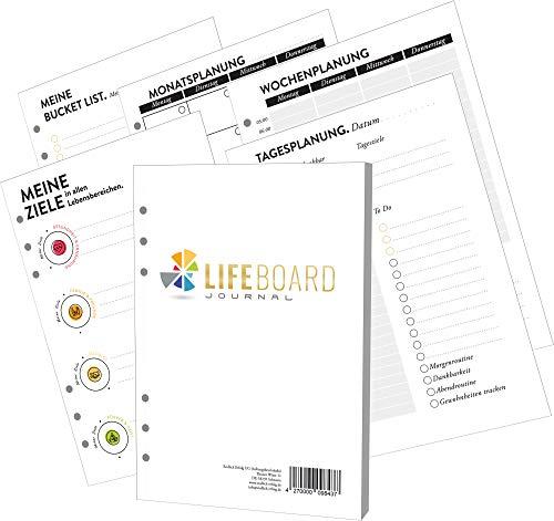 PREMIUM Erfolgsjournal - Nachfüllpapier A5 - Bullet Journal - Kalender 2021 2022 - Terminplaner - Terminkalender - Tagebuch - Wochenplaner - To do Liste - Notizbuch - Planner - Organizer LIFEBOARD