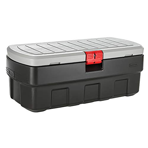 Rubbermaid ActionPacker 48 Gal Lockable Storage Bin, Industrial, Rugged Large Storage Container with Lid