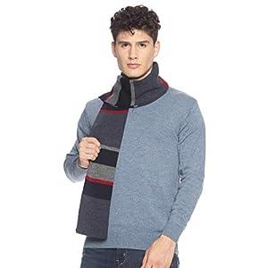 513 Men Acrylic Woolen Casual Winter Wear Striped Knitted Warm Premium Mufflers Navy 5 41PErJkn9PL. SL500 . SS300