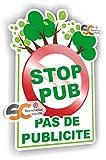 Stop Pub Sticker Autocollant - Pas de Publicité - Stop Pub 003