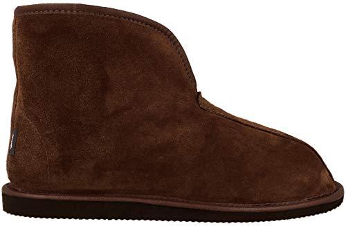 Zapatillas Unisex cómodas y cálidas con una Parte Superior Plegable Alta Hecha de Piel de Ante y Lana de Oveja Natural
