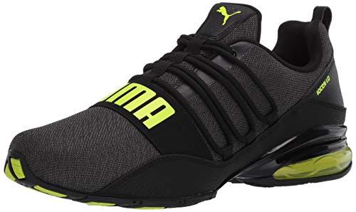 PUMA mens Cell Regulate Sneaker, Puma Black-yellow Alert, 9.5 US