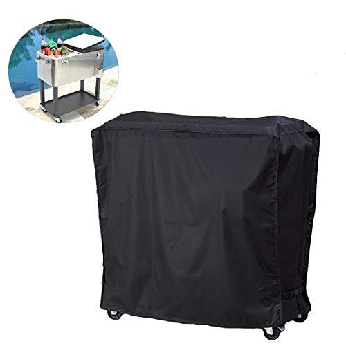 ZZYE Koeltas voor de meeste koelboxen met wieltjes (Patio Cooler on Wheels, drankwagen, wielen of afrollen koelbox), beschermdeksel, 90 × 52 × 88 cm