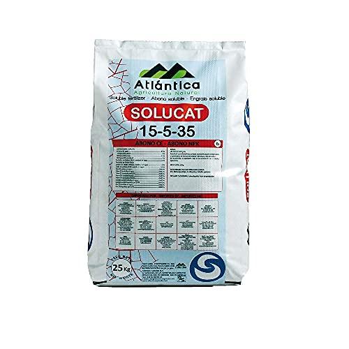ATLANTICA AGRICOLA Abono Cristalino Soluble NPK SOLUCAT 15-5-35, Especial Frutales, Hortícolas, Cultivos...