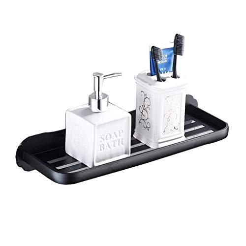 ZYING Cuarto de baño Estante de Acero Inoxidable Ducha Soporte Cuadrado Estilo Moderno montado en la Pared Negro Mate (Tamaño: 30 * 12 * 6,5 cm) (Size : 30cm)