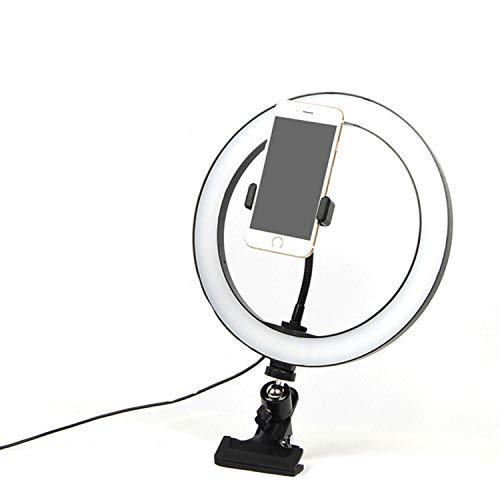 AFANG Kit Iluminación Video Conferencia Escritorio Luz, Cámara Led Ventosa Lámpara Relleno Suave Compatible Computadora Laptop Portátil Transmisión Reunión Línea Autoemisión Selfie Luminosa