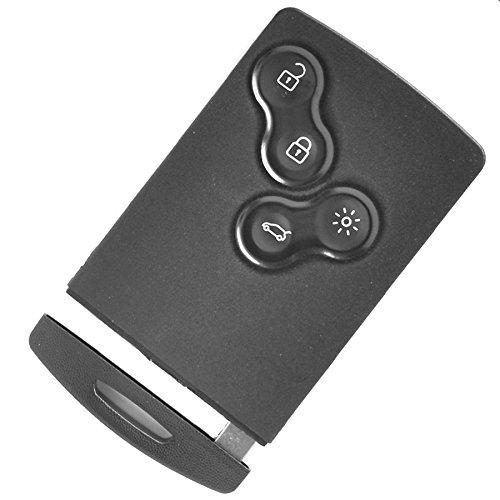 Auto Schlüssel Funk Fernbedienung 1x Keycard Gehäuse 4 Tasten + 1x Notschlüssel für Renault