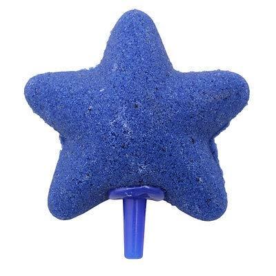 Forma de Estrella Piedra Burbuja de Aire Peces de Acuario Tanque hidroponía aireador Decoración (Color : Blue)