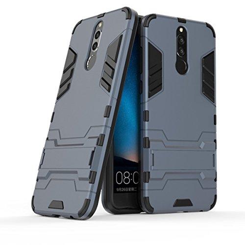CHcase Mate 10 Lite Custodia,Huawei Mate 10 Lite Cover, 2 in 1 Nuovo Armour Stile Dual Layer Armatura Defender PC + TPU Custodie con Supporto [Custodia Antiurto] per Huawei Mate 10 Lite -Black