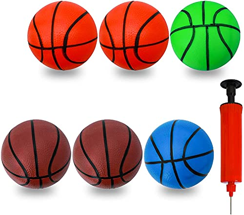 CYFIE 6 Pcs Mini Basketball Basketball Toys with Inflation Pump for Bath...