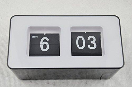 ZJchao Retro Auto Flip Clock Classic Modern Desk Table Stylish Wall Filp Page Down Clock