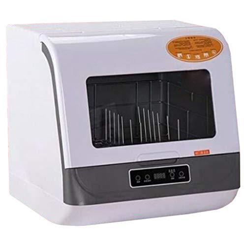 OCYE Lavavajillas Compacto, lavavajillas doméstico automático, sin instalación, Compacto y práctico, Apto para oficinas pequeñas y autocaravanas (Blanco, Dorado)
