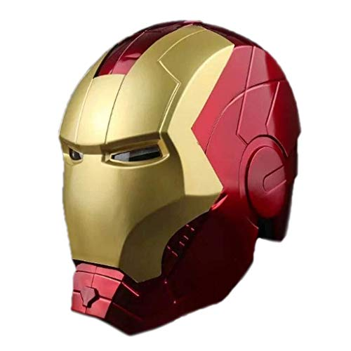 Halloween-Maske Halloween-Maske, leuchtende tragbare Modell Cosplay Requisiten, Iron Man Helm Avengers 1/1 Toy Modell Augen Können glänzen Öffnen Cosplay Stütze for Halloween-Partei-Maskerade geeignet