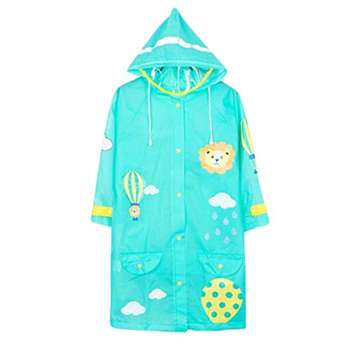 Belle Raincoat Raincoat Imperméable de Toddler Unisex Kid, Vert