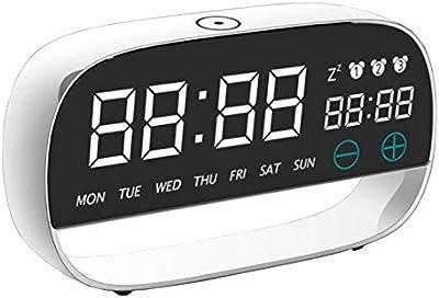 Shuangklei Toque Digital Led Reloj Despertador Con Luz De Noche 3 Alarmas De Temperatura De Ajuste